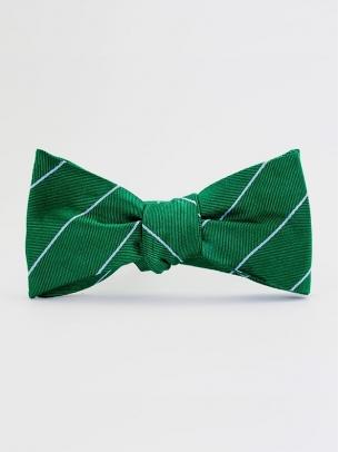 "Галстук-бабочка ""Green Stripes"""