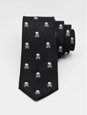 """Узкий галстук """"Skulls"""""""