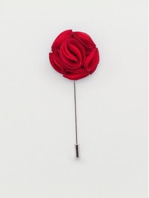 "Цветок в лацкан пиджака ""Middle Red"""