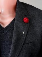 "Цветок в лацкан пиджака ""Small Red"""