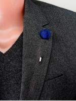 """Цветок в лацкан пиджака """"Small Blue"""""""