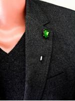 """Булавка в лацкан пиджака """"Green Stone"""""""
