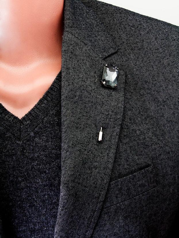 """Булавка в лацкан пиджака """"Grey Stone"""""""