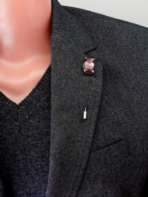 "Булавка в лацкан пиджака ""Purple Stone"""