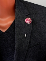 "Цветок в лацкан пиджака ""Red / Ivory"""